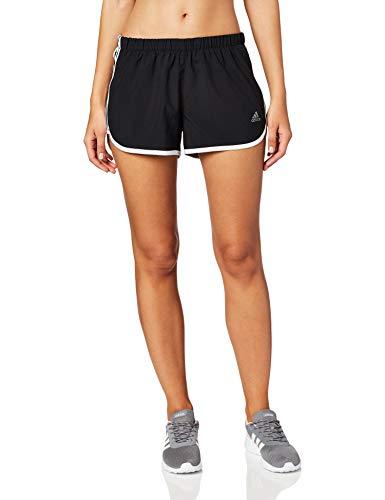 adidas Marathon 20 Short Pantalón Corto, Mujer, Negro (Black/White), XS-10 cm
