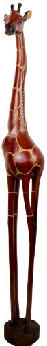 Holzgiraffe Tonga in Verschiedene Größen Handarbeit aus SIMBABWE Afrika Deko sehr hochwertige Holz Giraffe Firgur Holzfigur, 110cm