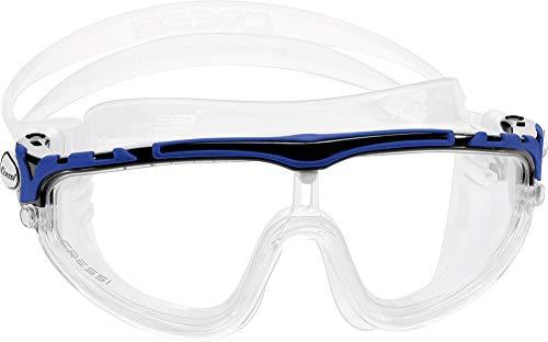 Cressi Skylight Gafas de Natación Anti-vaho, Unisex Adulto, Transparente/Negro/Azul, Talla única