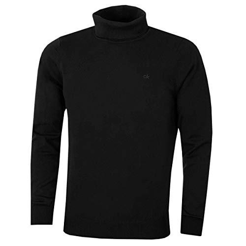 Calvin Klein CK Herren Rollkragen Rib Knit Warm Durable Sweater - Schwarz - M