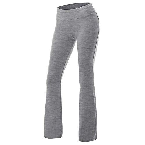 FYMNSI - Pantalones Largos de Entrenamiento para Mujer, para Correr, Yoga, Pilates Gris M