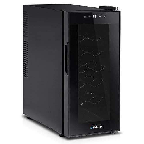 Devanti Wine Cooler 25L 8 Bottles Thermoelectric Fridge UV-resistant Glass Door