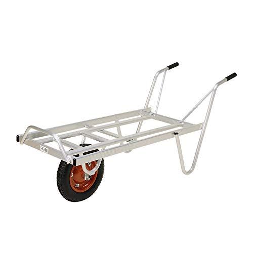 本宏製作所 アルミ製 一輪車 コンテナ3個載せ YT-3