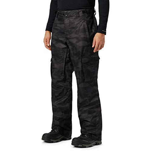 Columbia Men's Ridge 2 Run III Pant, Black Brushed Camo Print ,Small Regular
