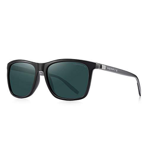 MERRY'S Unisex Polarized Aluminum Sunglasses Vintage Sun Glasses For Men/Women S8286 (Green, 56)