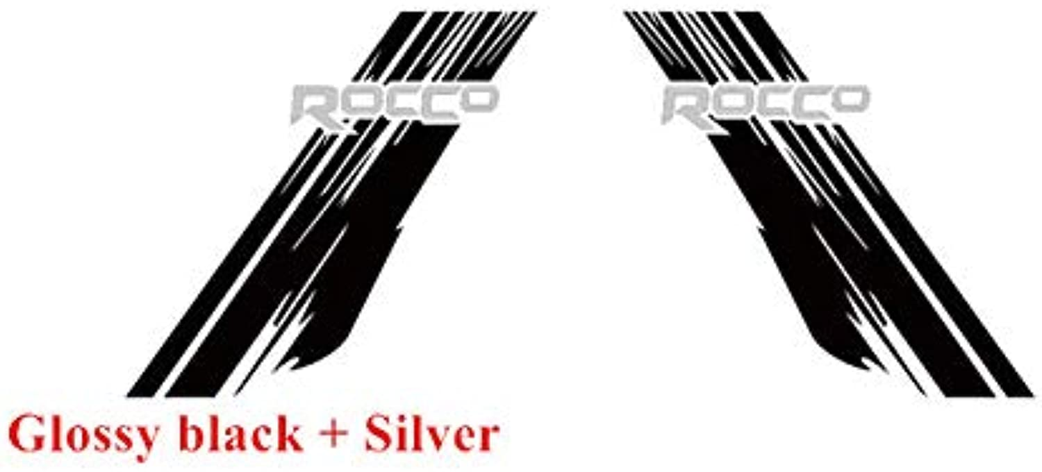 For Toyota Hilux Rocco Graphics Vinyl Decal Car Styling Decor Sticker Auto Body Decals Sport Racing Stickers  (color Name  Glossy BlackSilver)