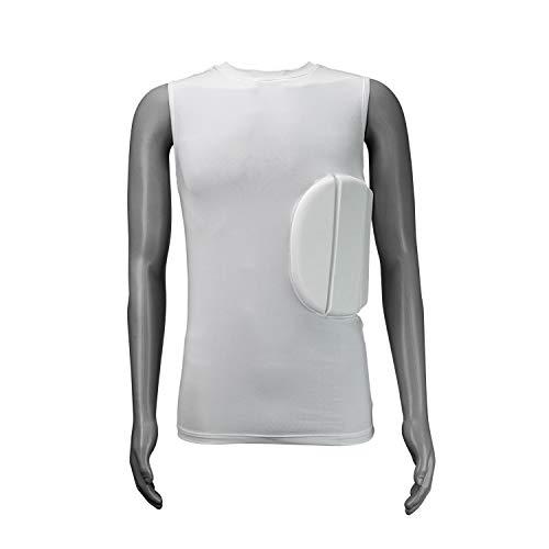 KOOKABURRA Unisex Pro Guard 500 Brustschutz, weiß, Übergröße, Erwachsene