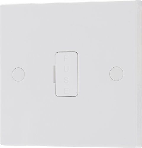 BG Electrical 952-0J Unswitched Connection Unit, White Moulded, 13 Amp, 8.6...