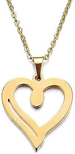 YOUZYHG co.,ltd Collar para Mujer Hombre Amante Corazón Colgante Collar Compromiso Regalo de Acero Inoxidable