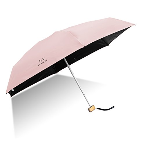 Orgen Mini Compact Sun&Rain Umbrella Lightweight Portable Small Umbrella Travel Parasol with 95% UV Protection (Pink)
