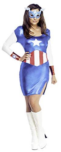 Generique - Déguisement Captain Girl Sexy Femme Taille S
