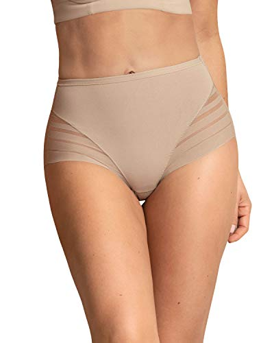 Leonisa Women's No Show Invisible Comfy Tummy Control Classic Panty,Nude,Small