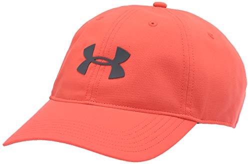 Under Armour Unisex-Adult Ua Men's Baseline Cap atmungsaktive Mütze mit Schirm, sportliche Herren Kappe, Rot, Einheitsgröße