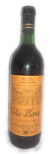 Viña Berceo Reserva 1982. Rioja. Luis Gurpegui Muga. Botella vino tinto.