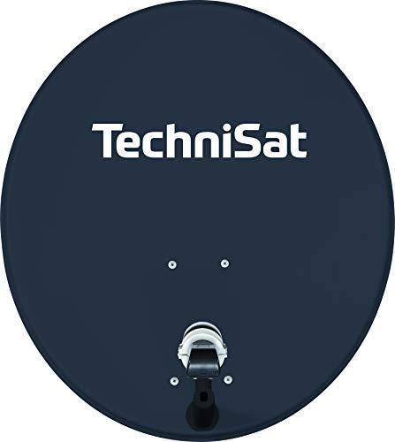 TechniSat TECHNITENNE 70 Satelliten-Schüssel für 4 Teilnehmer (70 cm digital Sat Anlage, Komplettset aus Antenne mit Masthalterung und Quattro-Switch-LNB), anthrazit