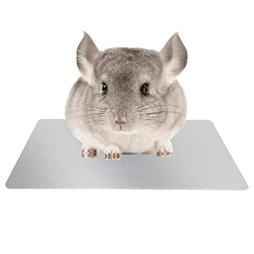 OLT-EU Alfombrilla de refrigeración para mascotas, placa de refrigeración de aleación de aluminio, cama de verano para mascotas para cobayas, hámsters, chinchilla y otras mascotas pequeñas (L1