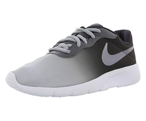 Nike Boy's Tanjun Print Shoe, Oil Grey/Dark Grey/White, 6.5 Big Kid