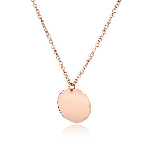 LENIRA® | SALE: Hochwertige Frauen Halskette - Plättchenkette rosegold - perfekt geeignet als Geschenk