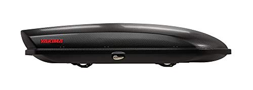 YAKIMA - SkyBox Aerodynamic Rooftop Cargo Space for Cars, Wagons and SUVs, 21 (adds 21 Cubic ft. of Storage), Carbonite