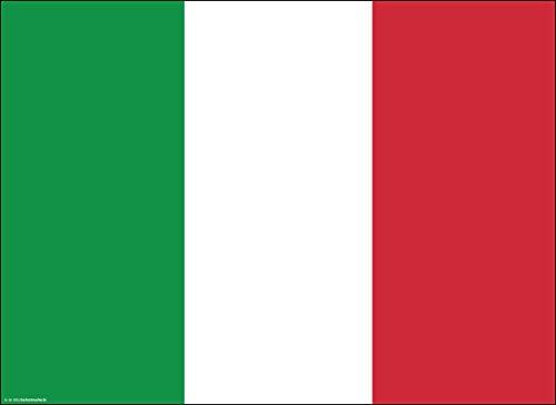 Tischsets | Platzsets - Italien Flagge - 10 Stück - hochwertige Tischdekoration 44 x 32 cm für Tische mit italienischem Flair, Mottopartys und Fanabende