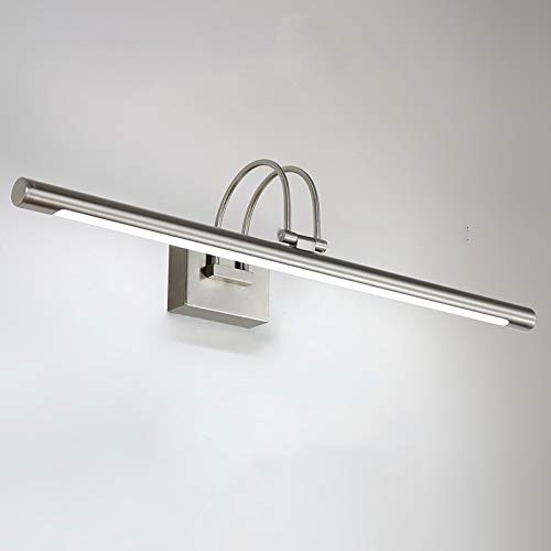 Modern Badezimmer LED Spiegellampe 62cm in Chrom Schwenkbare, Wandlampe Spiegelleuchte 9W 6000K weißeslicht, Wandleuchte für Bad Spiegel Kabinett Wohnzimmer Wandbild