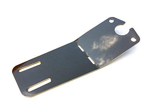 Simson Kennzeichenhalter S50 S51 S53 S70 SR50 Schwalbe KR51/2 Halterung für Rücklichtbefestigung Edelstahl poliert