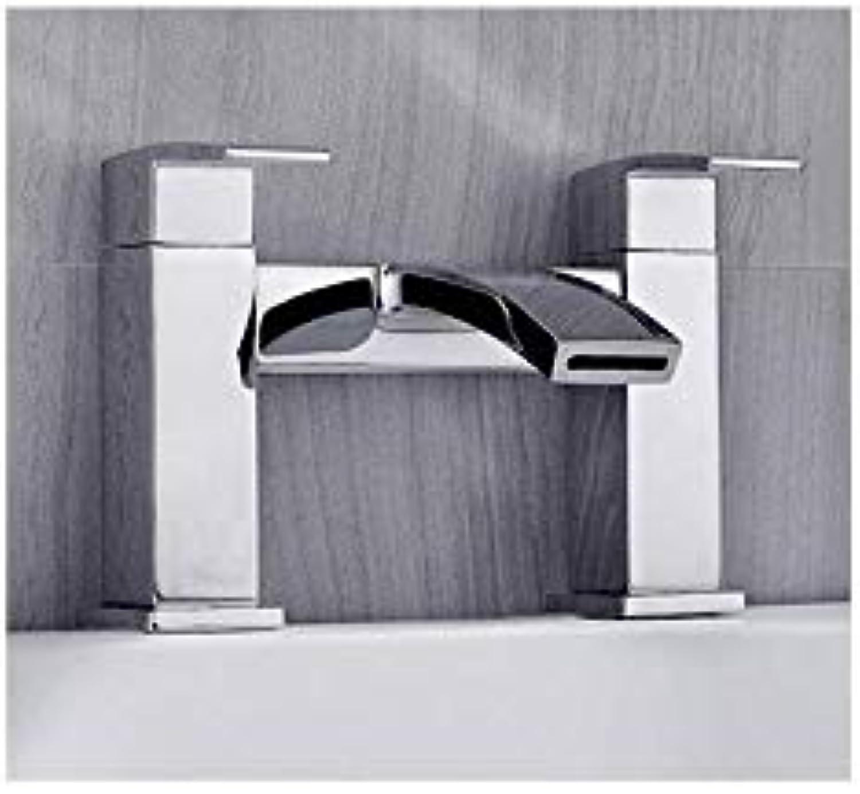 Badarmaturen Bad Dusche Wasserhahn Messing Badewanne Wasserhahn Kalt- und Warmwasser Mischbatterie Chrom