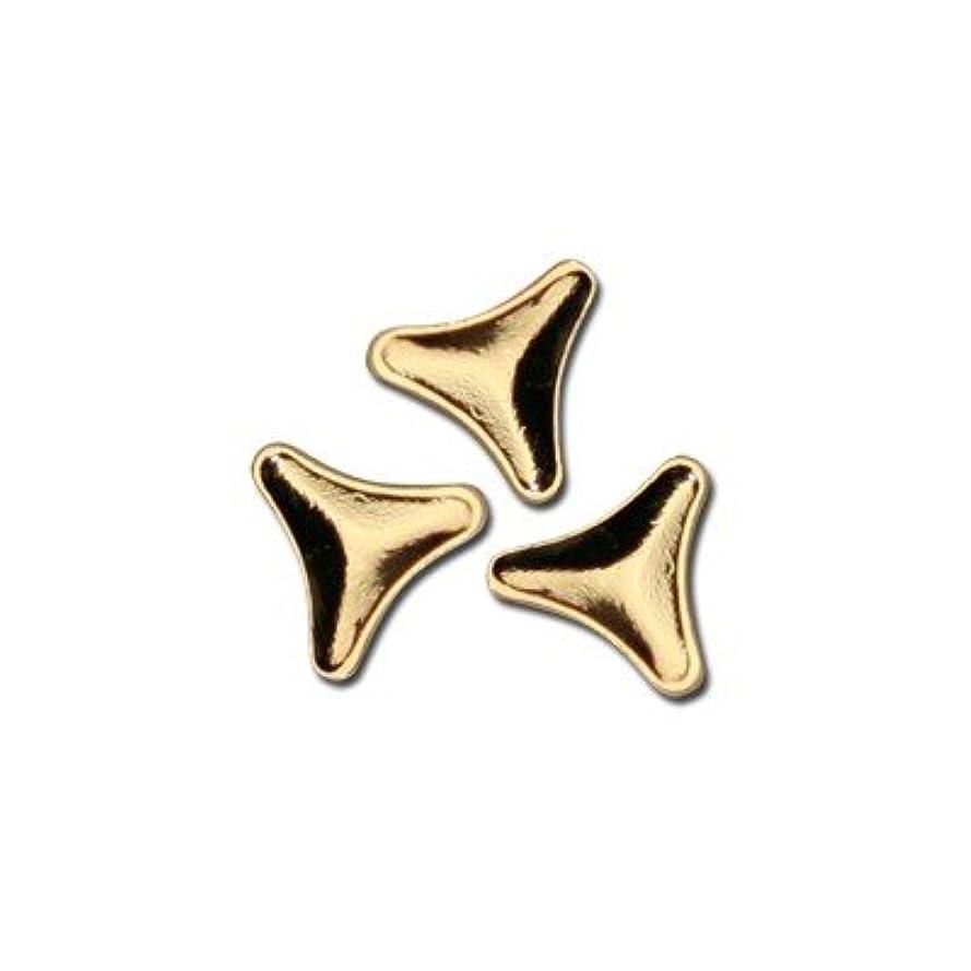 セラー名門証言するピアドラ スタッズ トライアングルマーク 3mm 50P ゴールド