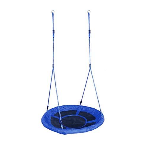 Kids Outdoor Garden Swing, Round Web Boom Net Swing Seat/Spider Web/Hangmat met Swing Set ankers en Opknoping Touw, verstelbare lengte hangende touwen