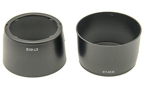 PROtastic Parasol de repuesto ET-65III ET65 ET-65 III *** 2 unidades *** para Canon EF 85mm f/1.8 USM, EF 100mm f/2 USM, EF 70-210mm f/3.5-4.5 USM, EF 135mm f/2.8 SF y EF 100-300mm f/4.5-5.5. 6 USM