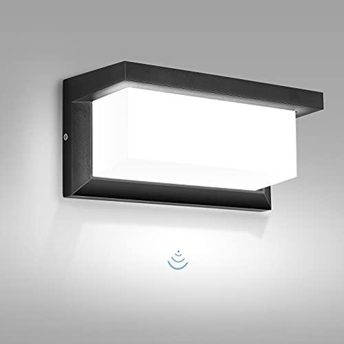 Applique Esterno, MICUTU 30W LED Lampada da Parete Esterno con Sensore, IP65 Impermeabile Luce da Esterno Moderno, per Corridoio, Scale, Giardino, Terrazzo Illuminazione (Bianco Freddo)