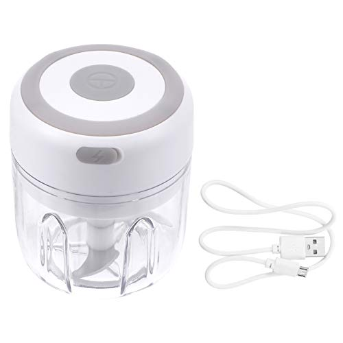 Hemoton Mini picadora eléctrica de ajos, picadora eléctrica inalámbrica de alimentos, picadora...
