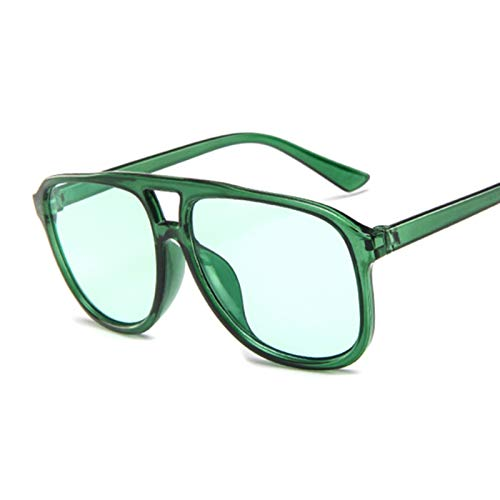 DNAMAZ Gafas de Sol piloto de Verano Mujeres Transparentes Sombras de Sol Gafas de Sol Freal Color UV400 (Lenses Color : Green)