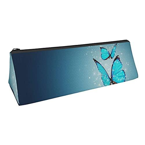 Bolsa de almacenamiento con forma de mariposa impresa de pequeña capacidad, para niños, niñas, colegio, escuela, oficina, alicates de papelería