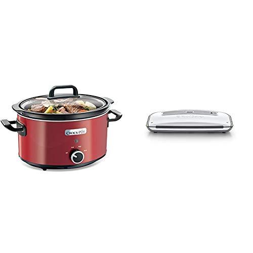 Crock-Pot SCV400RD - Olla de cocción lenta + Foodsaver FFS014X Envasadora al...