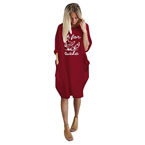 Damen Casual Langarm Pullover Lose langärmelige T-Shirt Rock Fuchs Drucken Weiblichen Langen Abschnitt Bat Shirt Rollkragen Kleid Frauen Herbst Winter Mode Tunika Bluse Stricken Sweater Minikleid