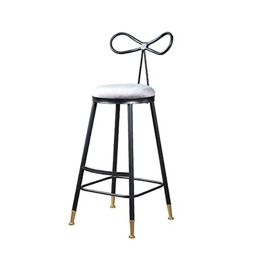 MINGDIAN Taburetes de Bar, Taburete de Bar Industrial para Interiores y Exteriores con Estuche Blando, Altura de mostrador de Cocina de Pub, Negro