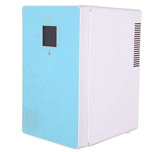 HYISHION Mini Fridge 16Liter Portable AC/DC Powered Cooler and Warmer, Compact Refrigerator with Digital Thermostat and Control Temperature for Bedroom, Office, Dorm, Car &Ect,Blue