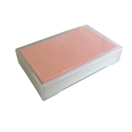 メッセージカード名刺サイズカラー13色×各8枚104枚入り無地色上質紙最厚口上質紙135kgPP製箱入り