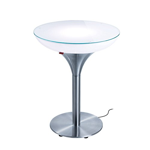 EEC A++, Moree Table de bar Lounge M 75 Outdoor - Avec éclairage