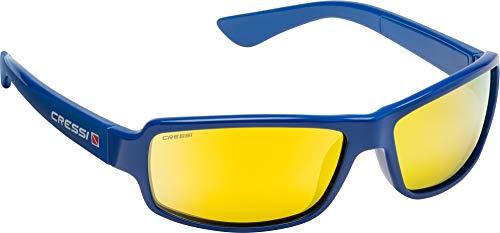 Cressi Ninja Floating - Gafas Flotantes Polarizadas para Deportes con una protección 100% UV Adultos Unisex, Azul Royal/Lentes Naranja Espejadas 🔥