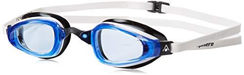 MP Michael Phelps K180 GT Swim Goggle, Blue Lens with White/Black Frame
