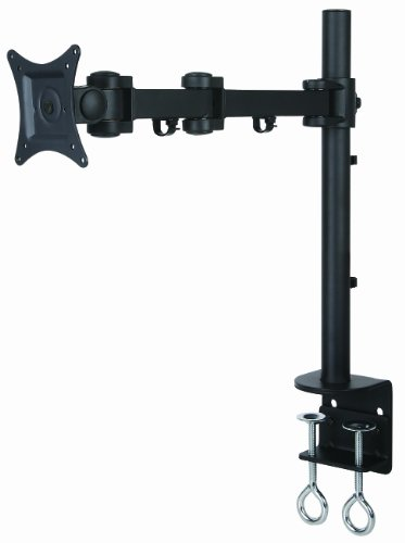 "Halter Single Pole with Triple Jointed Arm LCD Monitor Mount Stand Desk clamp Holds up to 27"" LCD Monitors"
