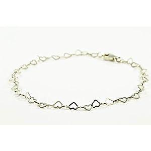 Armband aus kleinen Herzen, 925 Silber