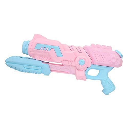 DAUERHAFT Pistola de Agua Tipo Tirar de Alta presión, Juguete de Pistola de Agua Lindo y Duradero, Juguete para niños, para Juegos de Playa al Aire Libre(Rosado)