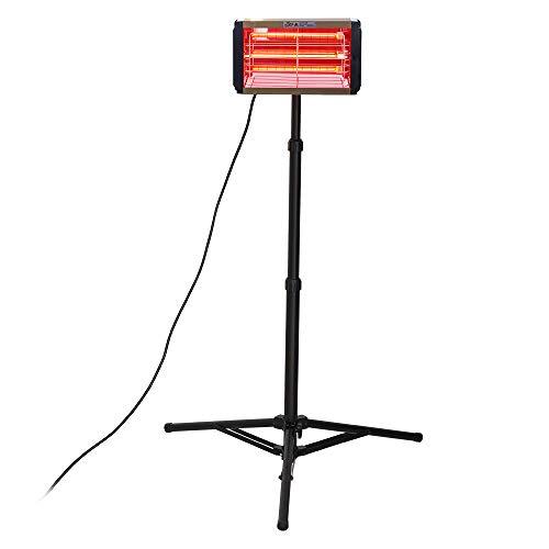 N\C Lámpara de calefacción infrarroja de 1000 W, lámpara de curado de pintura de coche de onda corta de 220 V, luz de secado de pintura infrarroja secador de pintura con soporte (220 V UK)