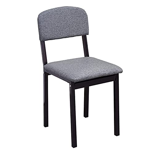 Pteng Dexterous Modern Design Solid Wood Casual Dining Chair, Household Leather Upholstered Chair Multifunctional Comfortable Office Chair with Non-Sl