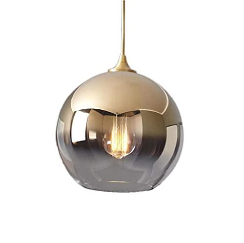 SZJY Deckenleuchte Mini Pendelleuchte Mit Mundgeblasenem Glasschirm Verstellbare Schnurhalterung Für Kücheninsel Flur Küchenspüle Matt Golden