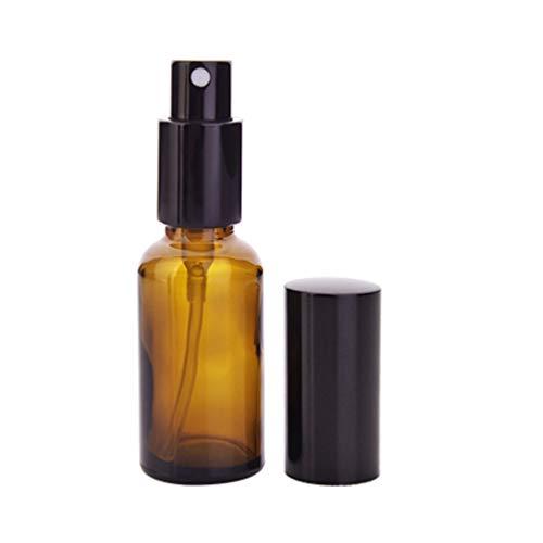 Minkissy Mini-sprayflesjes voor fijne nevels, lege glazen spuitflessen, navulbare haarspuitflessen voor reinigingsproducten voor vloeibare etherische oliën