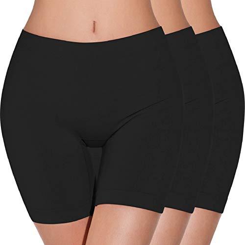 heekpek Bragas Pantalon Mujer Cintura Alta Bragas sin Costuras para Mujeres Anti fricción Calzoncillos Boxer...